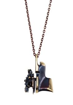 """Björn Weckström for Lapponia Jewelry """"Starfighter"""" Flame Bronze Necklace, Old Jewelry, Jewelry Art, Vintage Jewelry, Handmade Jewelry, Jewelry Design, Dog Tag Necklace, Arrow Necklace, Star Wars, Make A Person"""