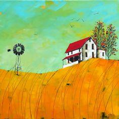 Artwork of Glendine exhibited at Robertson Art Gallery. Original art of more than 60 top South African Artists - Since Dyi Painting, Building Painting, Building Art, Landscape Art, Landscape Paintings, Banana Art, Farm Art, Modern Art Paintings, Barns