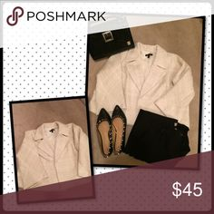 💰Winter White Tweed Blazer BUY ONE GET ONE FREE! Beautiful blazer with flecks of gold thread. Great for upcoming holiday gatherings!!! Lane Bryant Jackets & Coats Blazers