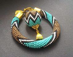 bizuteria-blond: sznur szydełkowo-koralikowy (bead crocheting)