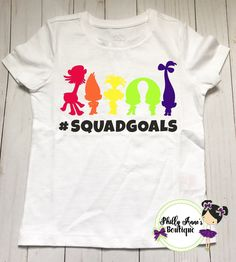 Squad goals, Trolls squad goals, trolls cast, poppy and branch by PhillyAnnesBoutique on Etsy https://www.etsy.com/listing/528437555/squad-goals-trolls-squad-goals-trolls