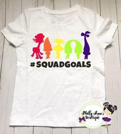 Squad goals, Trolls squad goals, trolls cast, poppy and branch by PhillyAnnesBoutique on Etsy https://www.etsy.com/listing/528437555/squad-goals-trolls-squad-goals-trolls