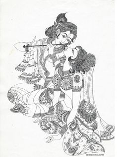 Sketch Of Lord Krishna And Radha Radha Krishna Sketch, Krishna Drawing, Krishna Painting, Krishna Art, Lord Krishna, Radhe Krishna, Kerala Mural Painting, Indian Art Paintings, Acrylic Paintings