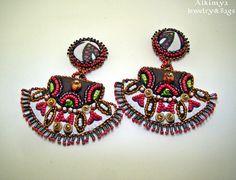 Orecchini a clip - Orecchini etnici - un prodotto unico di Alkimya-Bags-Jewelry su DaWanda