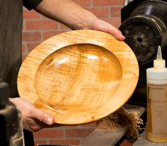 Article - Turning a Utility Platter from Craft Supplies USA. Read our step-by-step article on turning a utility platter online. #woodturning #bowlturning
