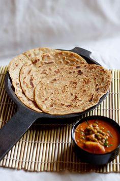 kerala paratha or malabar parathas - crisp and layered flaky flat bread from kerala, India. step by step recipe.