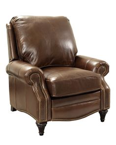 The dignified Barcalounger Vintage Avery Push Back Recliner resembles a classic library chair yet boasts a smart push-back recline feature to make it. Office Desk With Hutch, Barcalounger, Classic Library, Library Chair, Leather Recliner, Living Room Chairs, Vintage Industrial, Family Room, Armchair