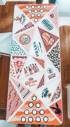 Custom Beer Pong Tables, Beer Table, Diy Table, Sorority Canvas, Sorority Paddles, Sorority Crafts, Sorority Recruitment, Cute Crafts, Diy Crafts