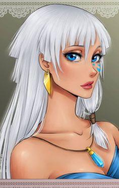 Princess Kida - Atlantis: The Lost Empire - Disney Girls Drawn Anime Style Anime Disney Princess, Anime Princesse Disney, Princess Kida, Disney Princess Drawings, Princesa Disney, Disney Girls, Disney Drawings, Disney Anime Style, Brave Princess