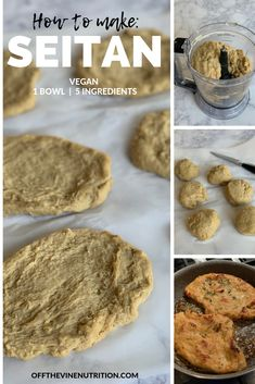 Seitan is a meat alternative made from vital wheat gluten. Check out this easy Seitan is a meat alternative made from vital wheat gluten. Check out this easy 1 bowl, 5 ingredient, vegan seitan recipe! Easy Seitan Recipe, Vegan Meat Recipe, Homemade Seitan, Vegan Dinner Recipes, Whole Food Recipes, Vegetarian Recipes, Vegan Chicken Breast Recipe, Gluten Free Seitan Recipe, Tvp Recipes