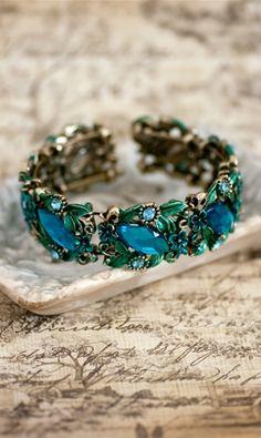 Shabbyapple.com Isadora Bracelet #Blue #vintage #floral