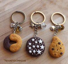 Portachiavi biscotti mulino bianco abbracci pan di stelle gocciole in fimo