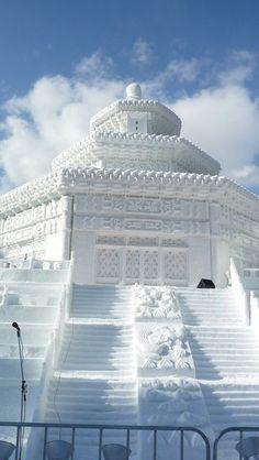 Sapporo Japan - Sapporo Snow Festival - Snow Palace