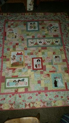 Finished friends quilt It Is Finished, Quilts, Blanket, Learning, Rugs, Friends, Home Decor, Farmhouse Rugs, Amigos