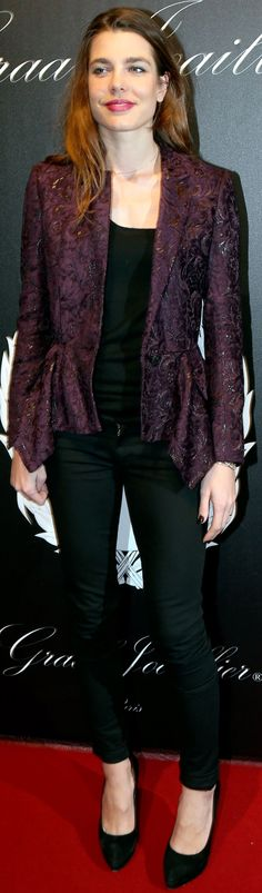 Charlotte Casiraghi in Gucci Fall 2012 jacket
