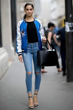 Supermodel street style from Paris couture - HarpersBAZAAR.co.uk