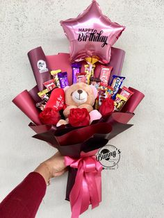 Order or enquiry's please Whatsapp us No : We provide delivery for Penang Kedah Kl Selangor (Selected Area) Candy Bouquet Diy, Food Bouquet, Gift Bouquet, Cute Birthday Gift, Friend Birthday Gifts, Diy Birthday, Homemade Gifts, Diy Gifts, Chocolate Bouquet Diy