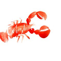 Lobster (red only) Art Print