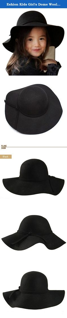 Eshion Kids Girl's Dome Wool Felt Bowler Cap Floppy Hat Bow (Black). 100% Brand New. Material: Wool Blend 3 Colors for your choice: Dark Red, Camel, Black Shape: Round Design: Retro Fit people: Fit for kids It's fashionable, retro, creative, is a very useful accessory brighten up your look, also as a gift Package Content: 1 xGirls Hat Great for any activity, provides a casual or formal stylish look whether it is indoors or outdoors. .