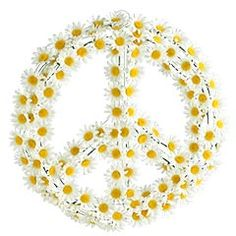peace sign wreath