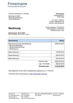Scrollen Unsere Druckbar Von Vorlage Rechnung Provision In 2020 Rechnung Vorlage Rechnungsvorlage Rechnungen Schreiben