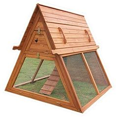 Portable Chicken Coop for 3 to 5 hens - Handcrafted Hen House Kit - Best Coop for Raising Urban and Backyard Chickens