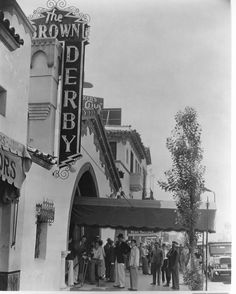 The Brown Derby on Vine St. A little-known fact: the Cobb Salad was invented here; it was printed directly on the menu!