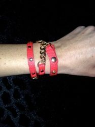 Red and Gold Wrap Bracelet for sale at Glamhairus.com
