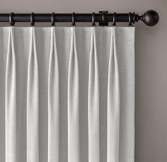 LIVING ROOM DRAPES  Custom Vintage Velvet 2-Fold Tailored-Pleat Drapery