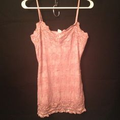 """Selling this """"Pink Lace Tank"""" in my Poshmark closet! My username is: melissam83. #shopmycloset #poshmark #fashion #shopping #style #forsale #Tops"""