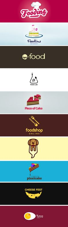 50 Tasty Food Logo Designs for Restaurants and Cafes 2 Logo, Logo Branding, Branding Design, Food Logo Design, Logo Food, Restaurant Logo, Food Icons, Great Logos, Cool Logo