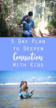 5 Day Plan to Deepen Connection With Kids. Happiness Is Here. She also talks about the stress of moving on families in this post.