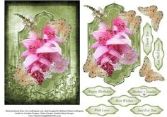 Mixed Flower Plaque Topper with Decoupage on Craftsuprint - Add To Basket!