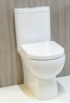 Rak Tonique Compact Short Projection Close Coupled Fully Back to Wall Toilet WC BTW Space Saver Comfort Height Toilet Pan Soft Close Seat