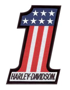 Free shipping over $99 - Harley-Davidson #1 Red, White & Blue Small Patch EM227842 - For the Home/Decals & Patches -