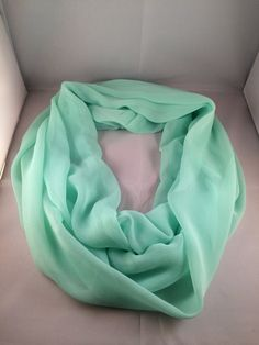 Sheer Mint Green Spring Infinity Scarf by TheWhistlinCowgirl, $15.00