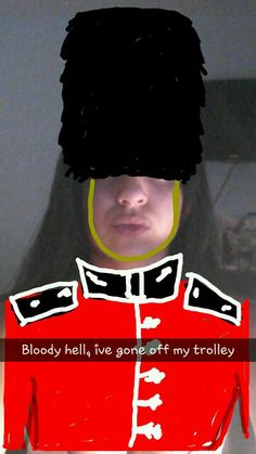 SnapChat with a British Guard Snapchat, Madness, Movies, Movie Posters, British, Films, Film Poster, Cinema, Movie