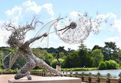 Steel Wire Fairy Sculpture, England