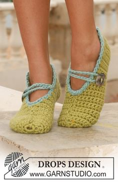 FREE Crochet DROPS slippers