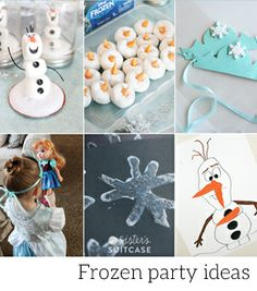 The party game we planned is a simple twist on an old classic. We started by making sparkly Elsa crowns and Sven the Reindeer antlers out of...