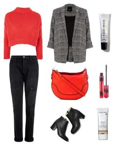 """""""College Outfit"""" by lilyhastings98 on Polyvore featuring moda, Topshop, Current/Elliott, Marc Jacobs, Bobbi Brown Cosmetics, Elizabeth Arden ve Lancôme"""