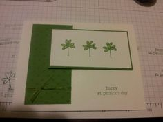 St. Patrick's Day card, Stampin' Up