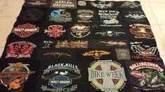 Harley tshirt quilt