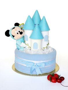 Babymuu | Ürünler | Bebek Bezi Pastaları | Erkek Bebek Pastaları | Mavi Şato Bez Pasta
