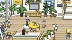 Minions, Simons Cat, House Games, Cute App, Neko Atsume, Japanese Games, Lounge Decor, Furniture Layout, Modern Bohemian