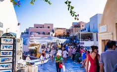 Touristic, Oia, Santorini, Greece