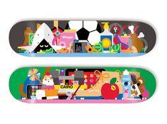 Decks for Enjoi.  by illustrators Craig & Karl.