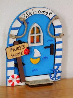 Nautical Sea Beach Sailor Fairy Door Elf Door by Beecreativebox