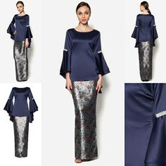 Baju Kurung Moden Hari Raya 2016 More Trouvez l'inspiration sur www. Kebaya Hijab, Kebaya Dress, Kebaya Muslim, Muslim Dress, I Dress, Muslim Fashion, Modest Fashion, Hijab Fashion, Fashion Outfits