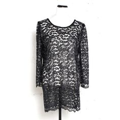 Lace Shift Dress Black now featured on Fab.